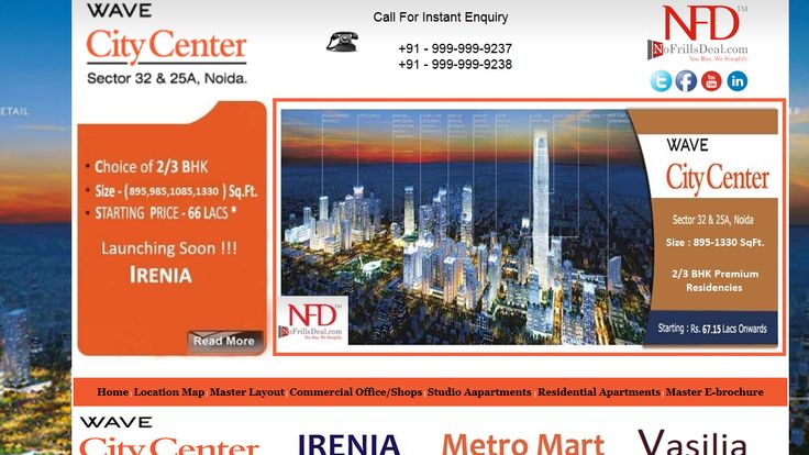 """""""Welcome to most extreme 2/3 bhk Wave Vasilia World's Newest Residence located in Wave City Center Sector 25A/32 Noida. for more visit: https://www.youtube.com/watch?v=68iCil-hZEg"""