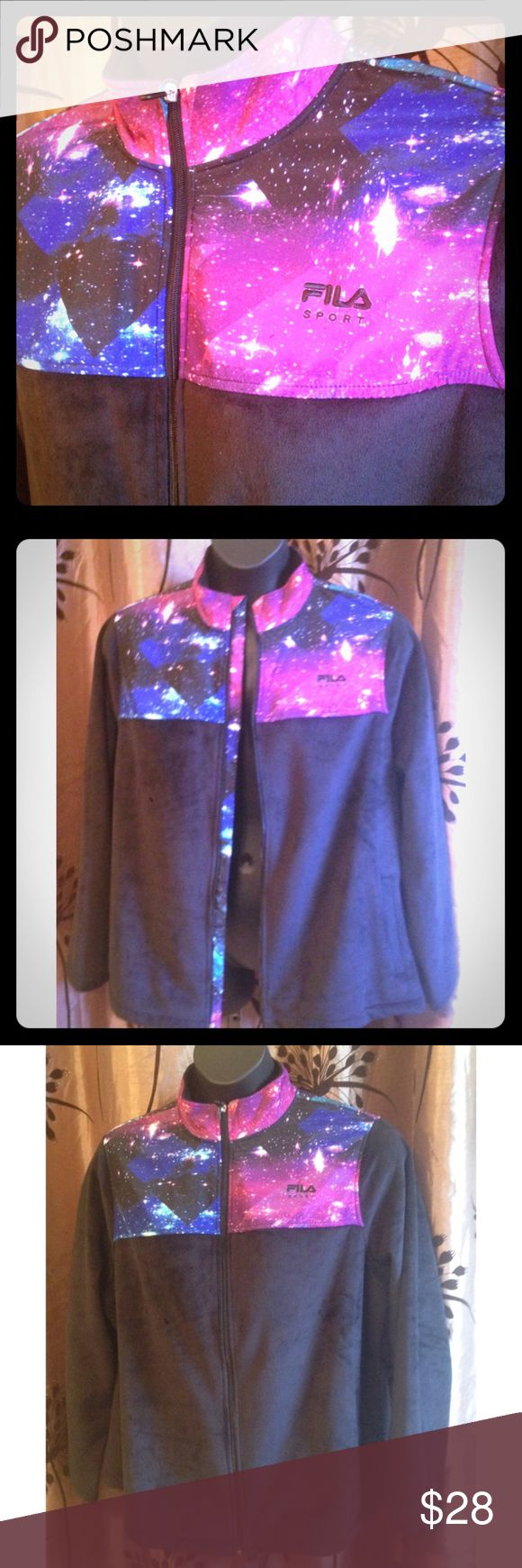 Fila Velour Warm Up Jacket It's out of this world! Space themed jacket. Never worn. Fila Jackets & Coats