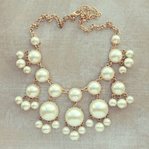 Pearl Bubble Necklace. This is probably my favorite version of bubble necklaces and probably the only one I would actually wear.