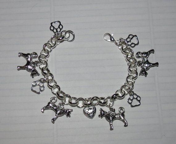 Siberian Husky  or Malamute Charm Bracelet by PawInspiredCreations