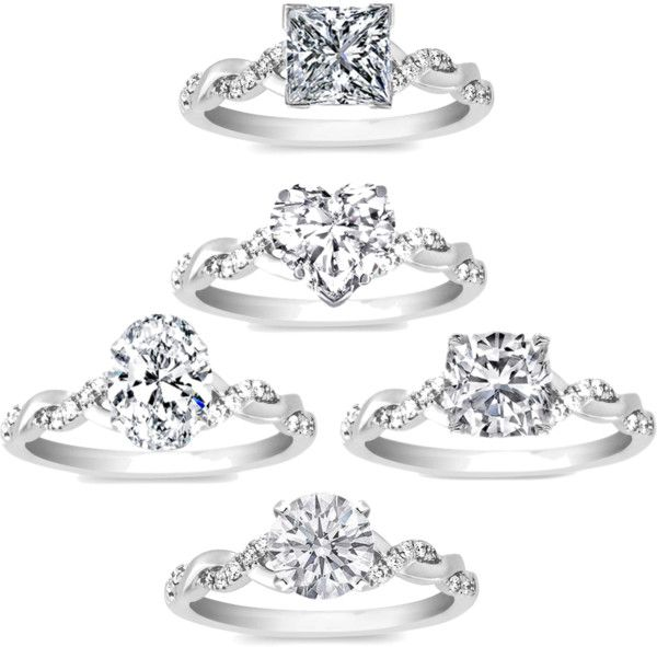twistedloveinfinity engagement rings...ANY of them except the heart shaped stone.