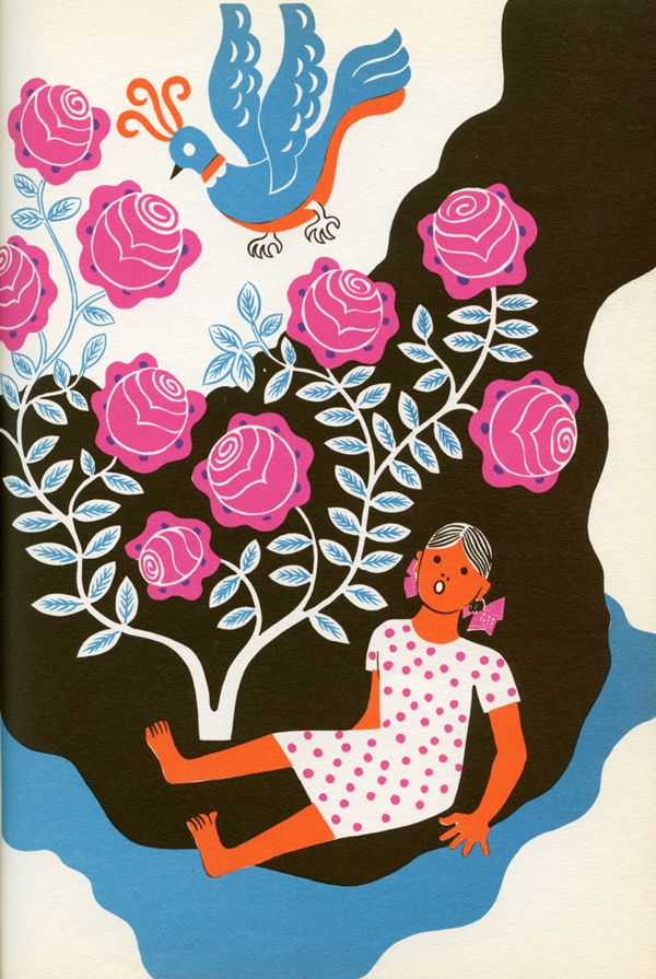 Illustrations for The Hungry Moon: Mexican Nursery Tales (1946) by the Guatemalan artist Carlos Mérida (1891–1984)