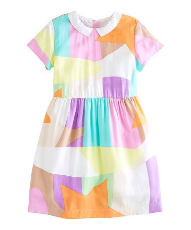 Look at this #zulilyfind! Pastel Spring Geometric Dress - Toddler & Girls by FabKids