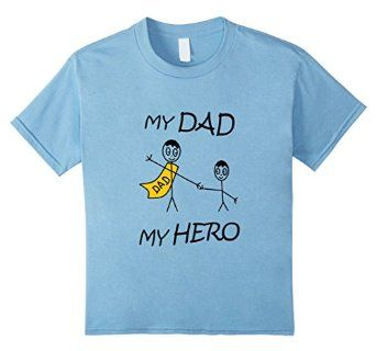Amazon.com: Kids My Dad My Hero Fathers Day Gift Tee Shirts for Kids: Clothing