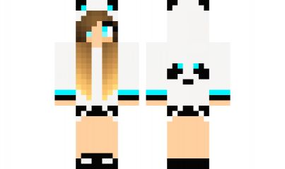 minecraft skin Blue-Panda-Girl Find it with our new Android Minecraft Skins App: https://play.google.com/store/apps/details?id=the.gecko.girlskins