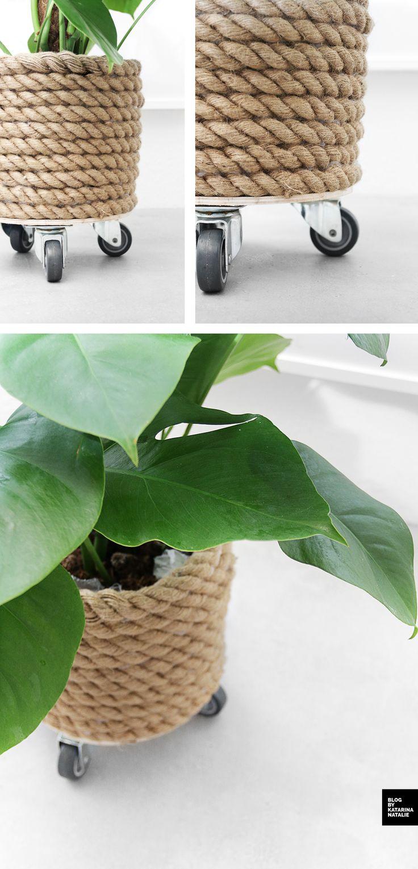 DIY ROPE POTTED PLANT // KRUKKE AF REB