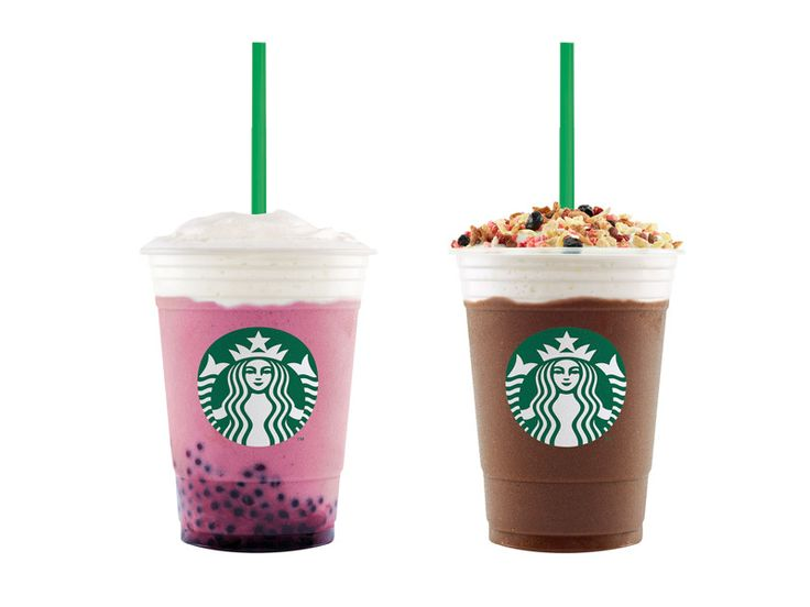 Starbucks Philippines Featured Drinks: Acai Mixed Berry Yogurt and Granola Dark Mocha Frappuccino Blended Beverages