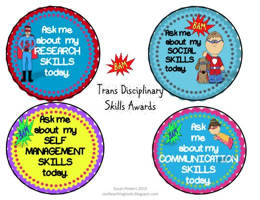 Awards Badges IB PYP Learner Profile & Attitudes