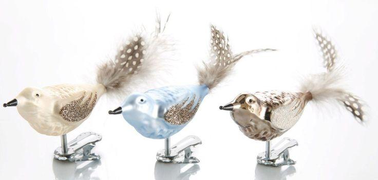 TGS-Christbaumschmuck Vögel »Sky« beige, champagner/trüffel/wedgewood blue, THÜRINGER GLASDESIGN Jetzt bestellen unter: https://moebel.ladendirekt.de/weihnachten/christbaumschmuck/?uid=864ab22c-57e1-5355-a258-557b07167d1a&utm_source=pinterest&utm_medium=pin&utm_campaign=boards #tgschristbaumschmuck #weihnachten #vögel #christbaumschmuck