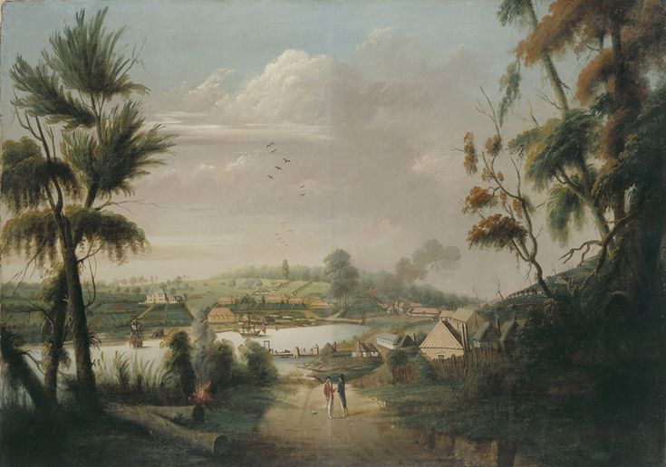 A direct north general view of Sydney Cove in 1794.