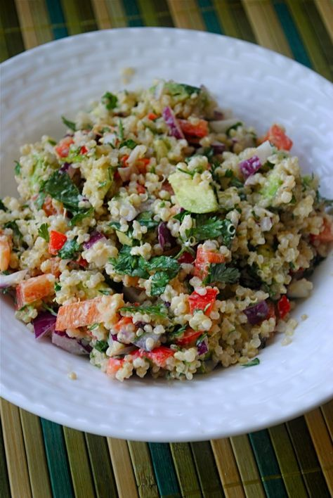 Quinoa and Avocado Salad with Lemon Tahini Dressing | Fat Girl Trapped in a Skinny Body