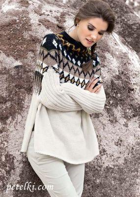 Пуловер-накидка