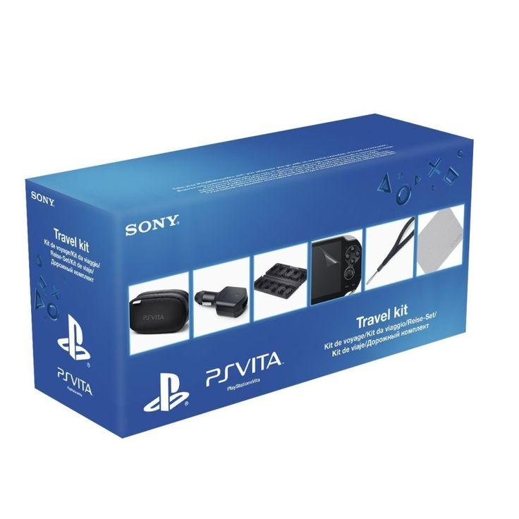 Ps Vita Kit da viaggio Puoi trasportare il tuo sistema PS Vita in una morbida custodia da viaggio con zip e riporre fino a sei schede PlayStation Vita e due schede di memoria nell'apposita custodia.