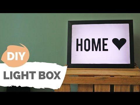 DIY | Caixa luminosa personalizável | Por GavetaMix - YouTube