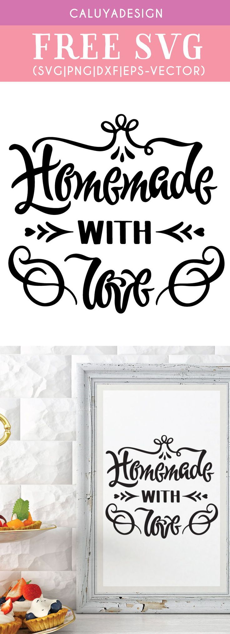 Download Free Homemade With Love SVG, PNG, EPS & DXF by   How to ...