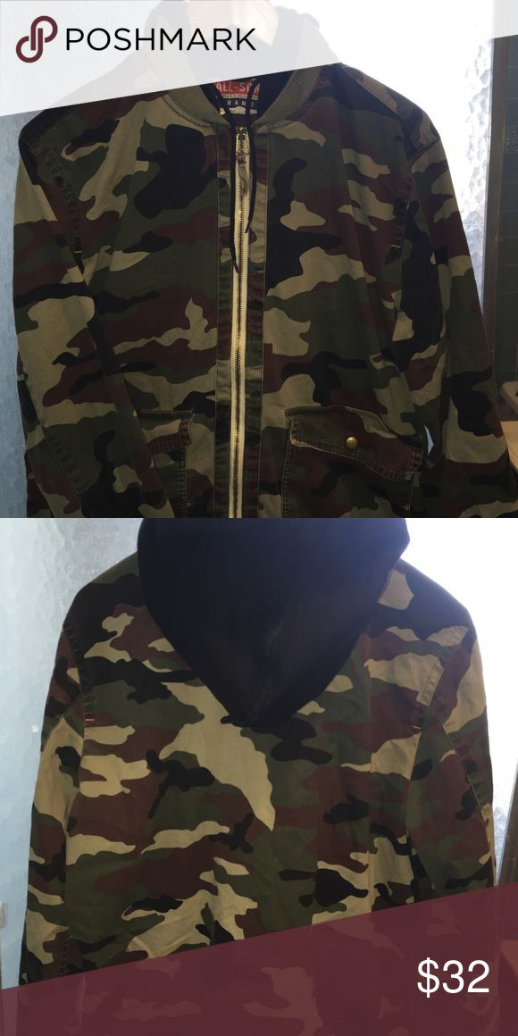 Men's Urban Outfitters Camouflage Zip Up Jacket Light Worn Urban Outfitters Jackets & Coats Lightweight & Shirt Jackets