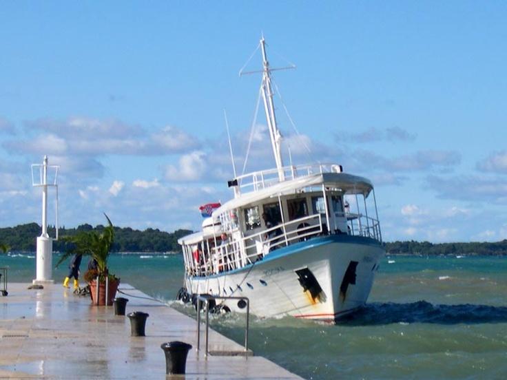 Mljet boat, storm Croatia