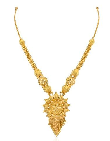 b23bc24e0 9 Beautiful 25 Grams Gold Necklace Designs In India