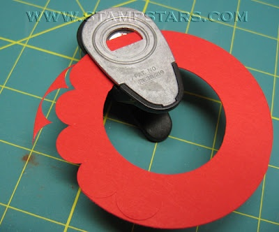 Craft Accident: Slit Punch + Coluzzle = Scalloped Circle