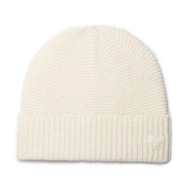 Bonnet bébé cachemire Paul écru - MAISON BRUNET -  http://www.maisonbrunet.com/product/bonnet-paul?ref=category-bebe #cachemire #cashmere #knit #knitwear #bebe #baby #madewithlove #conçuaparisavecamour