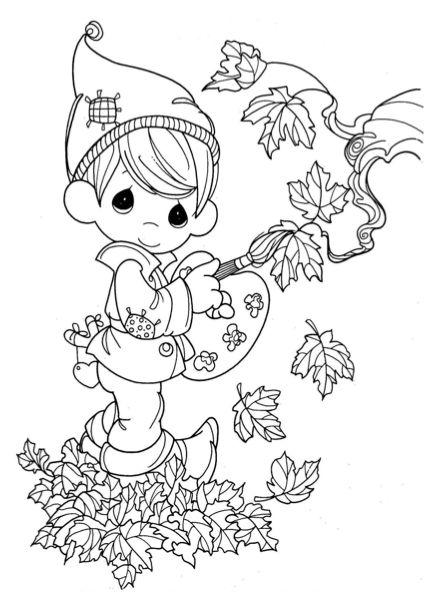 Herfst Schilder Kleurplaat