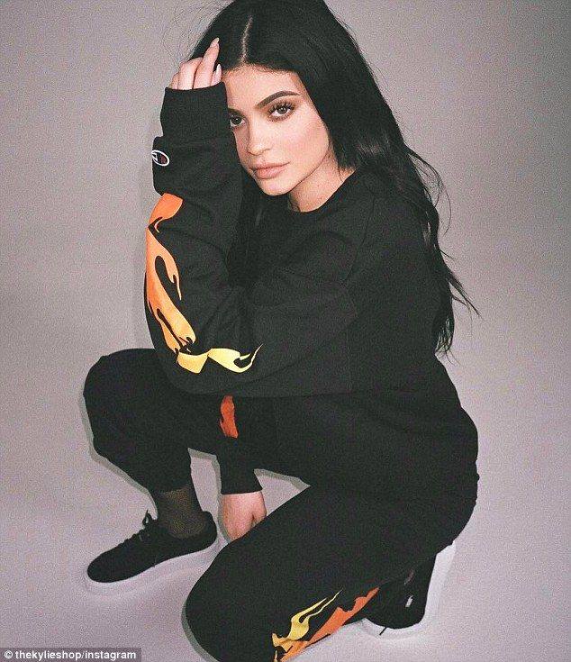 Plugging her stuff: Kylie Jenner has been modeling her new line of THICK! clothing on social media since the start of the month. And on Monday the 19-year-old Keeping Up With The Kardashians star was at it again