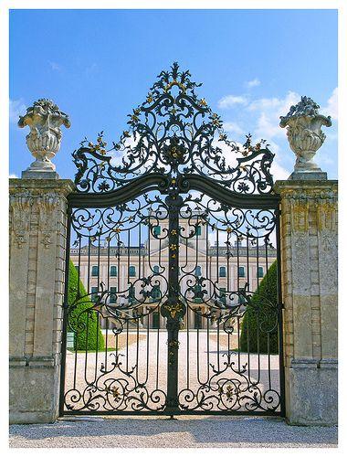 The gate of the Esterhazy palace - Fertőd, Hungary