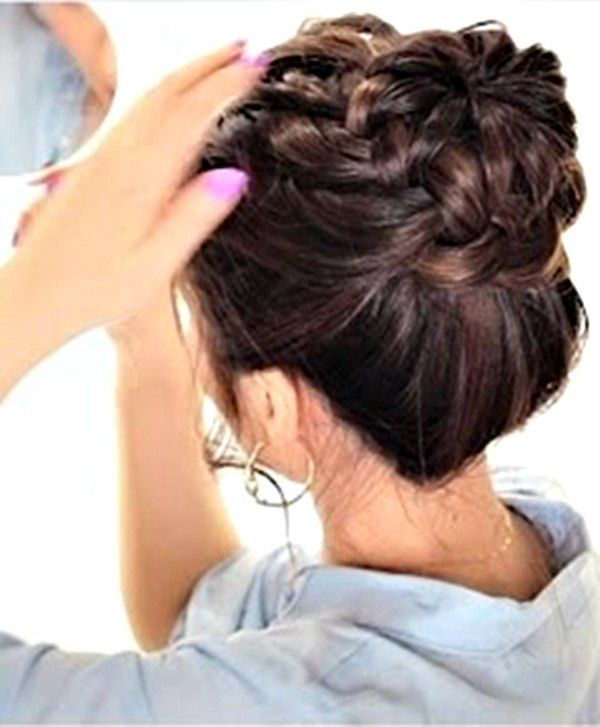 Updo hairstyles for long hair for school
