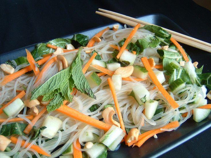 Photo recette : Salade de nouilles de riz à la vietnamienne