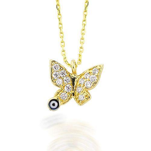 Altın Kolye - 14 Ayar Glorria Kelebek Altın Kolye - CN0016