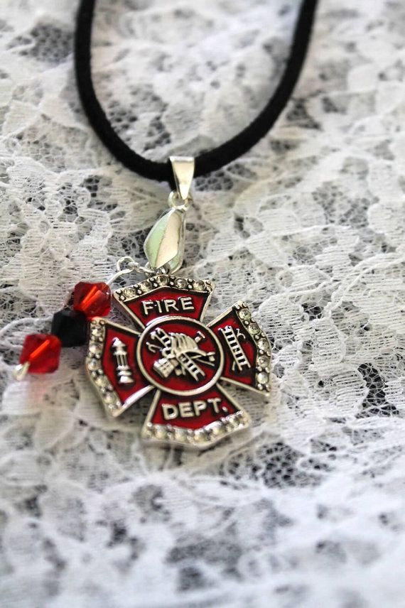 necklace girlfriend plus f jewelry info black love firefighter lekton print cute
