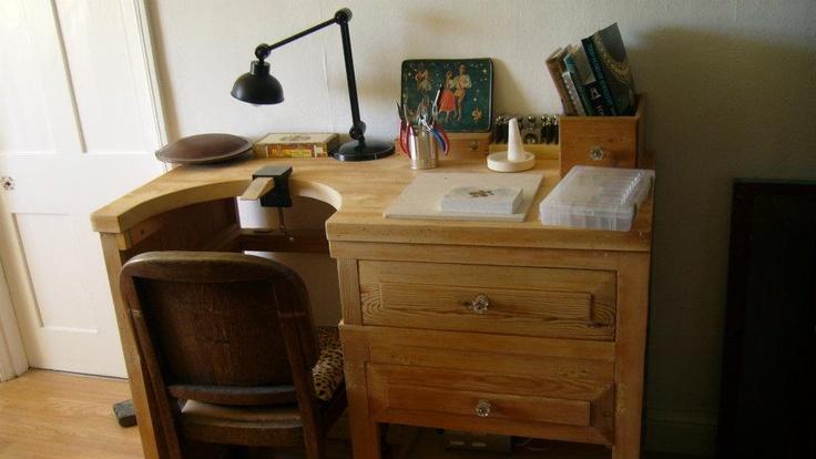 My silversmith workbench.Workbenches Silversmith, Silversmith Workbenches, Jewellery Benches Workshop