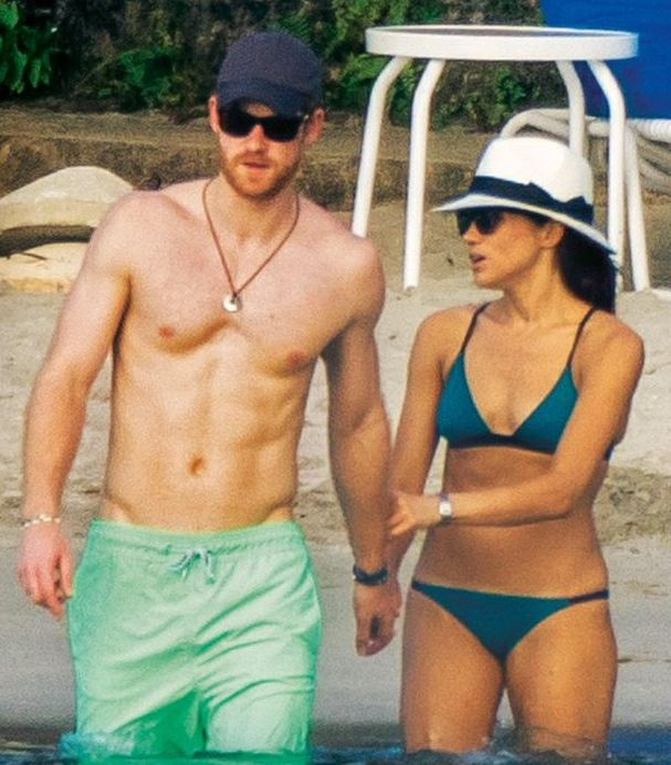 Mar 2017 - Meghan Markle and Prince Harry vacation in Jamaica
