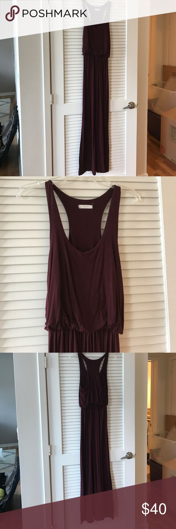 Dark Purple Maxi Dress 🍷 LUSH racerback maxi dress. Cinched waistline. 95% rayon, 5% spandex. Purchase at Nordstrom. Nordstrom Dresses Maxi