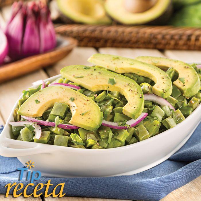 Ensalada de nopales con aguacate cuida tu alimentaci n - Platos sencillos y sanos ...