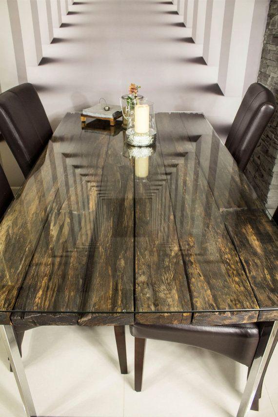 Oak Table Old Wood by ProjektCacko on Etsy