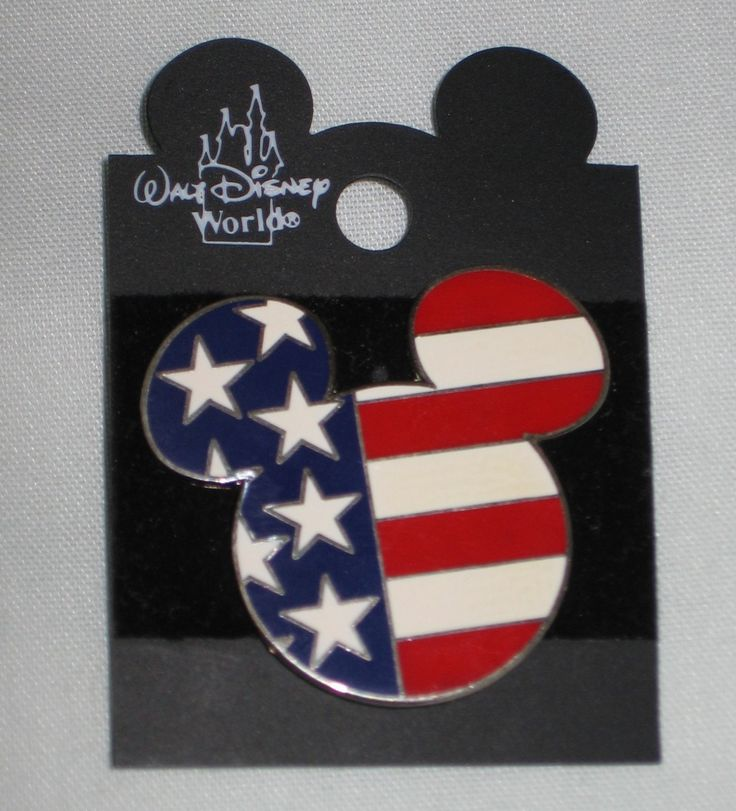 Disney Patriotic Mickey Mouse Head American Flag 2002 Large Trading Pin 23783 Post 9/11 RARE NEW for sale at www.yardsalebargains.ecrater.com
