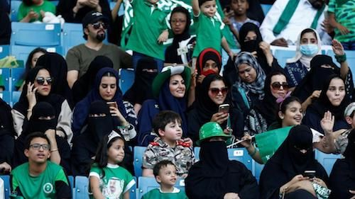 For the first time, women in Saudi Arabia will be able to enter a stadium to watch a football match at games in Riyadh, Jeddah & Dammam starting this Friday. 10.01.18