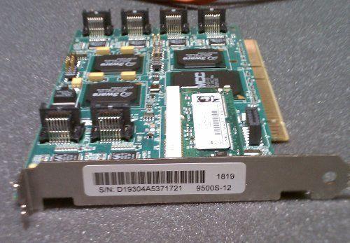 3ware Serial ATA RAID Controller ( 9500S-12 ) by 3ware. $115.00. 3ware 9500S-12 12-Port Serial ATA RAID Controller - 128MB ECC SDRAM - 400MBps - 12 x 7-pin SATA Serial ATA/150 - Serial ATA. Save 86% Off!