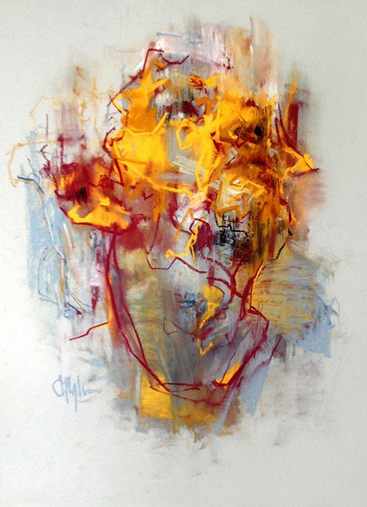 Cian McLoughlin {figurative impressionist art male head grunge man face portrait painting} cianmcloughlin.com