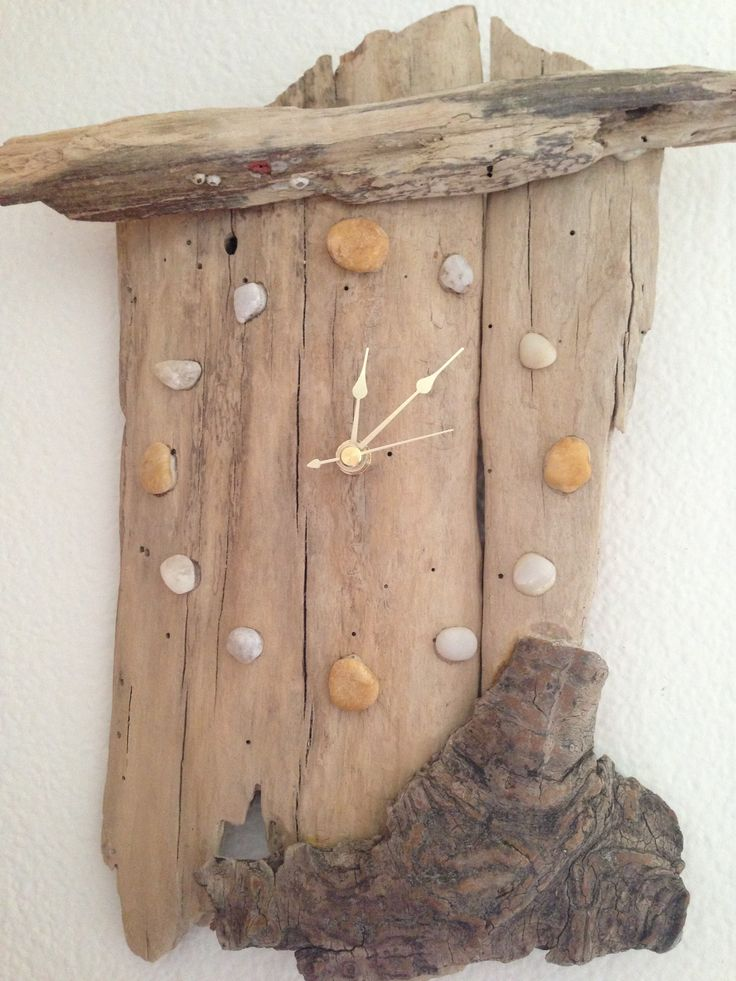 Driftwood Clock Use see glass for numbers