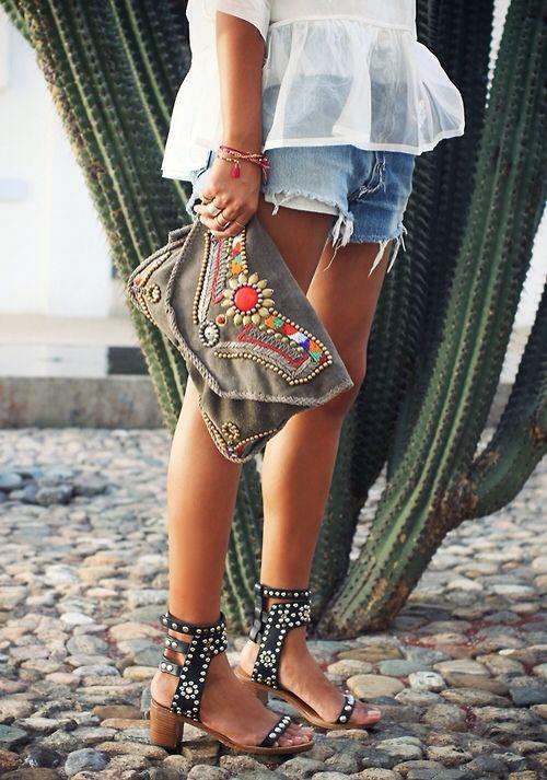 I like the bag, the denim and the cactus.