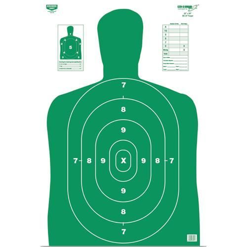 BW Casey Eze Scorer BC27 Green 12x18 Paper Target 10 Pk