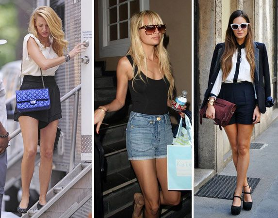 Embrace the more mature look. Another way to wear the high waisted shorts trend is to go for a dressier look, like Blake Lively and our street style fashionista did, above. Pair your shorts with heels to feel extra elegant.