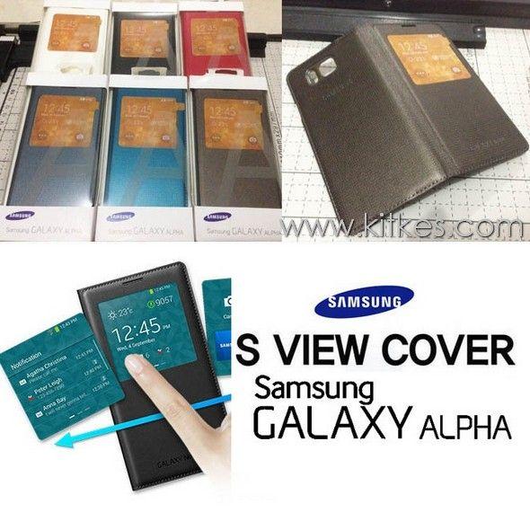 Flip Cover S-View Samsung Galaxy Alpha - Rp 150.000 - kitkes.com
