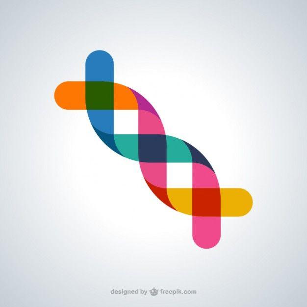 Símbolo abstracto de ADN Vector Gratis
