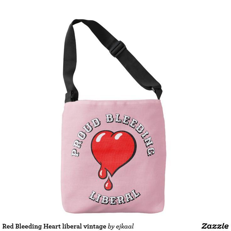Red Bleeding Heart liberal vintage