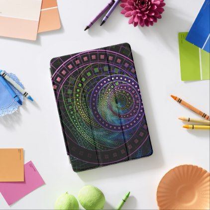 Large iPad Case with a Technicolor Fractal Rainbow - beauty gifts stylish beautiful cool
