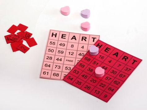 Valentine bingo - this would be great if you give math problems for the students to find the answers ie 2+5 and they put the heart on 7!