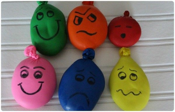 Wacky Sacks...stress balls made by putting play doh in balloons...much less mess when they pop, as compared to flour inside!